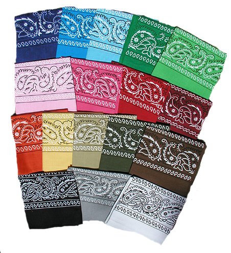 Traditional Bandannas - 20 Colors!