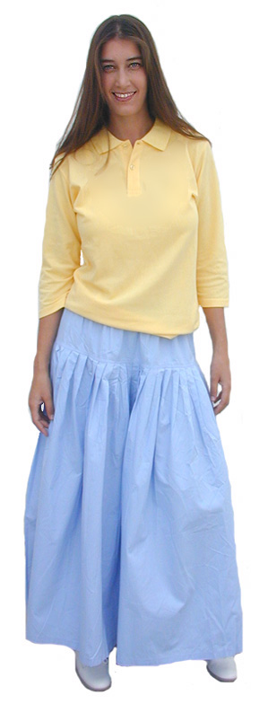 Ankle Length Drop Yoke skirt