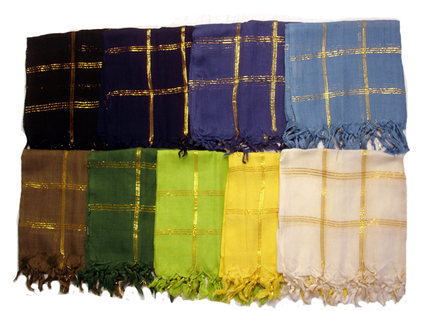 Classic Gold threaded Square Scarf