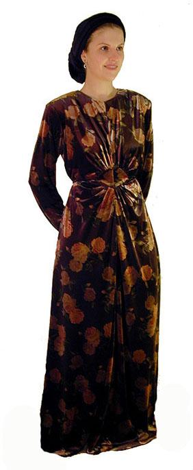 Rich Velvet Floral Gown <!-- 2035-V103 -->