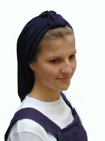 Soft cotton snood with band